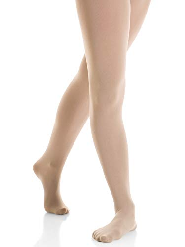 - Mondor Performance Footed Tights 3337 (NOT RETURNABLE IF OPENED) (Adult Small, Light Tan)
