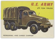 (1953 Topps World on Wheels (R714-24) (Non-Sports) card#55 US Army 2� Ton Truck of the Grade Very Good)