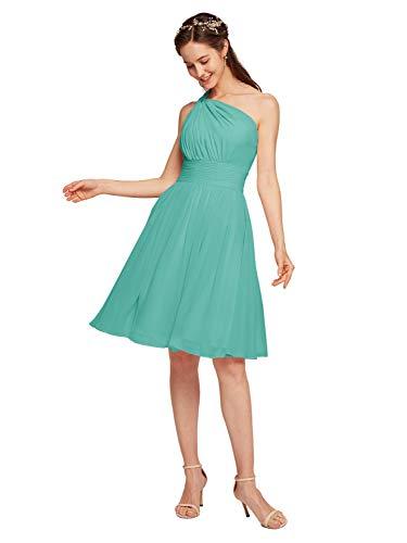 Alicepub Chiffon Bridesmaid Dress Short Cocktail Party Homecoming Dresses, Tiffany, US16