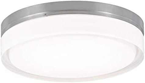 Tech Lighting 700CQLS-LED Cirque Ceiling Large, LED3, 13.6 x 13.6 x 6.8 , Satin Nickel