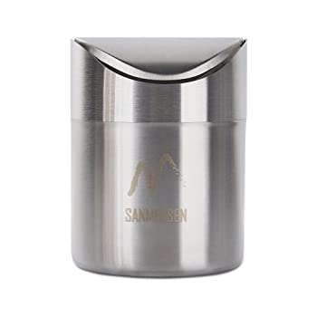 sanmersen mini stainless countertop trash can with lidsmall desk trash can recycling trash bin