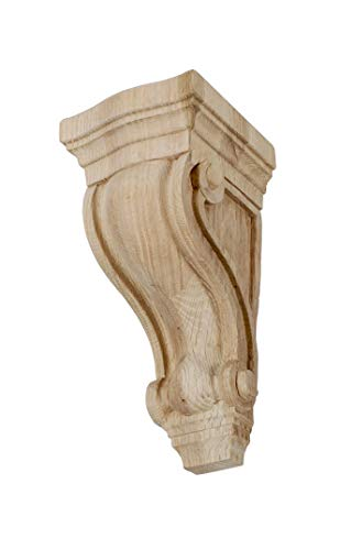 Large Unfinished Classic Corbel - American Pro Decor 4-3/4 in. x 2-7/8 in. x 2-5/8 in. Unfinished X-Small North American Solid Red Oak Classic Traditional