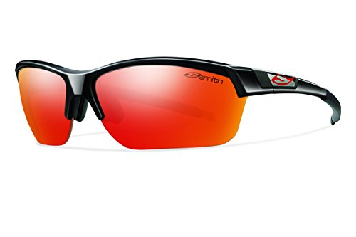 Smith Optics Approach Max (NEW) Sunglasses, Black, Red Mirror/Ignitor/Clear from Smith Optics