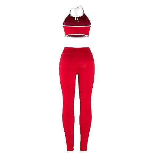 Yizenge Women's Two Piece Outfits Halter Crop Bra Long Skinny Pant Jog Set Tracksuit by Yizenge (Image #3)