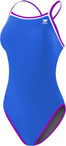 Reversible Womens Swimsuit (TYR Women's Solid Brites Reversible Diamondfit Grey/Blue/Purple Swimsuit MD)
