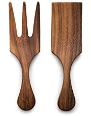 Ironwood Gourmet 28125 Large Salad Utensil Set, Acacia Wood