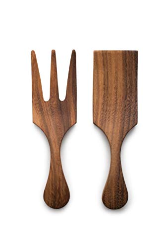Ironwood Gourmet 28125 Large Farmhouse Salad Utensil Set, Acacia Wood