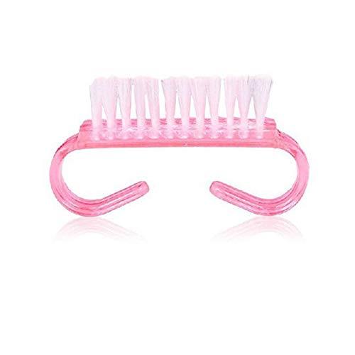 Convenient Nail Random Color Brush For Acrylic UV Gel Art Dust Cleaner Horn O7 -