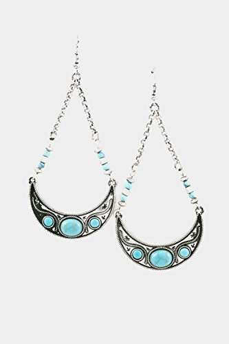 By Tarina Heart Necklace Tarantino (Trendy Fashion Jewelry Tribal Arc Earring By Fashion Destination | (Burnished Silver))