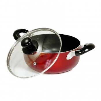 Better Chef 10-Quart Red Aluminum Dutch Oven Stock Pot by Be