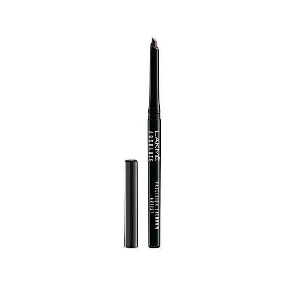 """Lakmé Absolute Precision Eye Artist Eyebrow Pencil, Dark Brown, 0.35g 2021 July For defined, naturally styled and evenly filled brows Soft, long lasting and waterproof finish Get perfect brows with a natural, matte finish in two shades €"""" dark brown and natural black"""