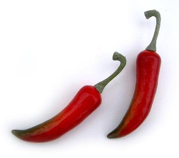 Artificial All Red Chili Pepper, Small, Bag of 36