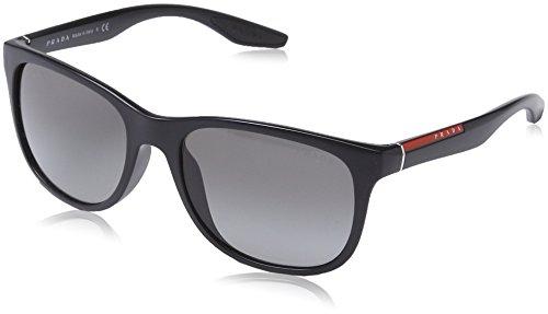 Prada Sport Sunglasses - PS03OS / Frame: Black Demi Shiny Lens: Grey Gradient (Prada Sport Shoes Women)
