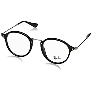 Ray-Ban Men's RX2447V Eyeglasses Shiny Black 47mm