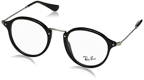 Ray-Ban Men's RX2447V Eyeglasses Shiny Black - Ban Plastic Ray Frame Glasses