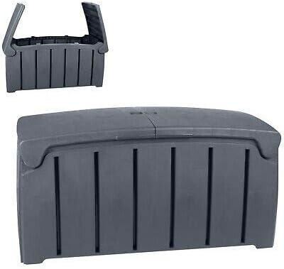 RETRAP - Baúl de almacenaje (plástico, 300 L), Color Negro: Amazon.es: Jardín