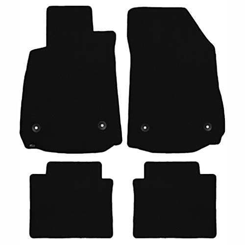 Brightt (MAT-POW-021) 4 Pc Car Floor Mat Set - Black Classic Carpet - compatible for 1956-1965 Porsche 356 (1956 1957 1958 1959 1960 1961 1962 1963 1964 1965 | 56 57 58 59 60 61 62 63 64 65)