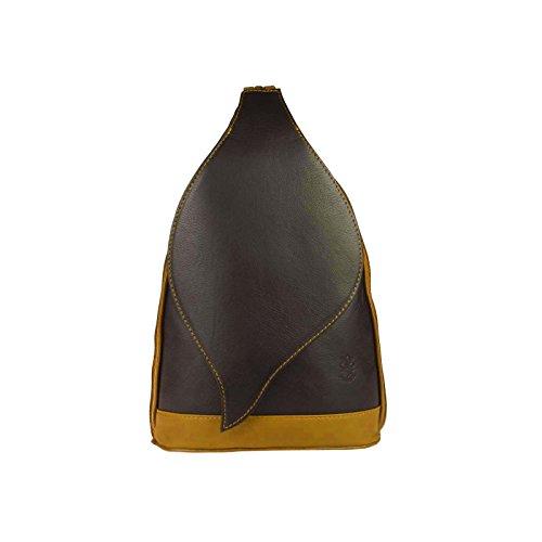 22x36x10 chocolat ca BxHxT Beautiful au Schwarz cm porté à 17x28x9 main Only Marron cognac pour Sac femme OBC Couture dos 67Oqwq