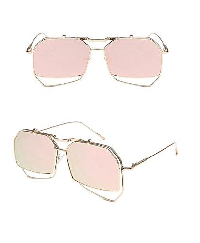 Dames des C Des Soleil la de Couleur Mode de Lunettes B coréenne Hommes Lunettes de personnalité Lunettes Soleil lunettes soleil de 44qxwvHg