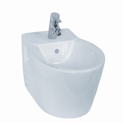 Nameeks Vitra 5386-003-0288-638845330961 Sunrise Collection Quality Wall Mounted Bidet, White