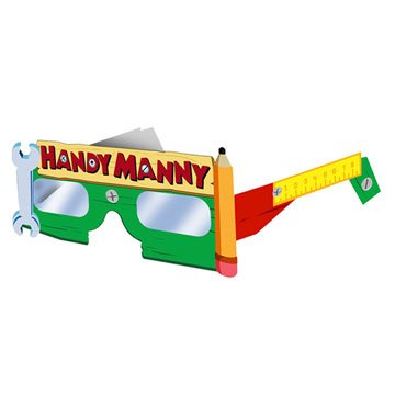 Hallmark Handy Manny Paper Glasses - 8 (Handy Manny Birthday Party Supplies)