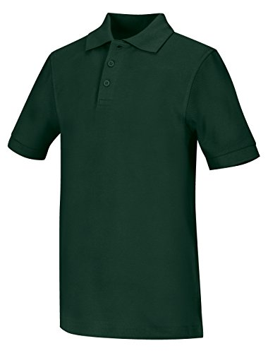 Classroom Big Boys Uniform Pique Short Sleeve Polo,Black,X-Large