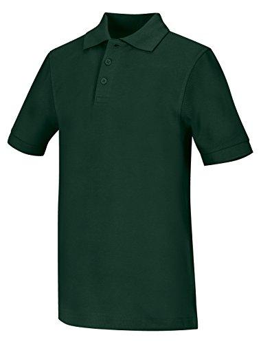 Classroom Big Boys Uniform Pique Short Sleeve Polo,Gold,Large