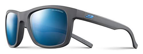 Julbo Beach Sunglasses, Grey Frame, Smoke Polarized Lens w/Blue Mirror (Julbo Sunglasses Polarized)