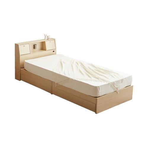 ナチュラル【超高密度ハイグレードポケットコイル】/【シングル】 ベッド シングルベッド 収納付ベッド 引出し収納付ベッド 収納付 引出し付 照明付 コンセント付 シンプル 北欧 Alloys B00M95THQM ナチュラル【超高密度ハイグレードポケットコイル】 ナチュラル【超高密度ハイグレードポケットコイル】