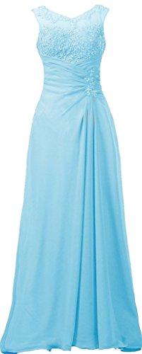 Mère Mousseline Appliqued De La Soirée Mariée Robe Longue Bleu Clair De Fourmis Femmes