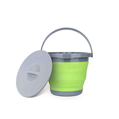 8haowenju Outdoor Folding Bucket, Silicone Portable Household Cleaning Bucket, Large Car Wash Bucket, Retractable Fishing Bucket materials (Color : Pink, Style : B) ()