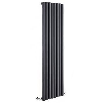 1600mm x 354mm 959 Watt Savy Antracita Hudson Reed Radiador de Dise/ño Vertical 444 Entre Eje