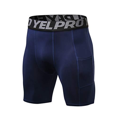 Fitness Attillato Jiameng Uomo Allenamento Compressione Pantalone Elasticizzato Palestra Navy Attillatissimo Sportivi Pantaloncini Blu Da Pantaloni HqgUwBWpq