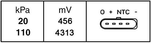 HELLA 6PP 009 400-261 Sensor boost pressure