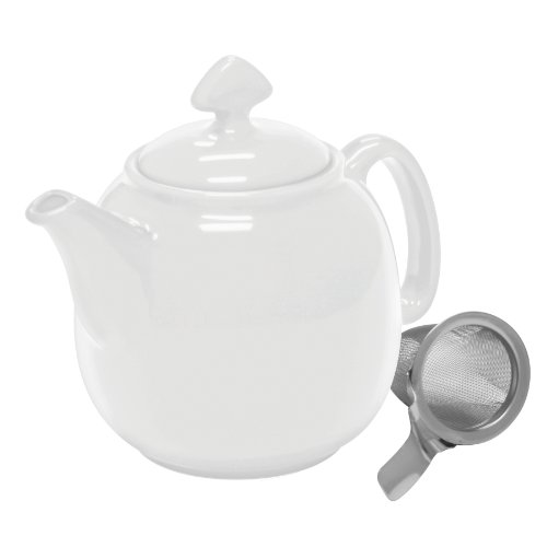 Chantal 92 tp13 sli wt chantal tea for 4 teapot with stainless steel infuser 1 1 2 quart white - Chantal teapots ...