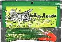 Bass Assassin Walleye Turbo Shad, Fire Tiger, 4-Inch