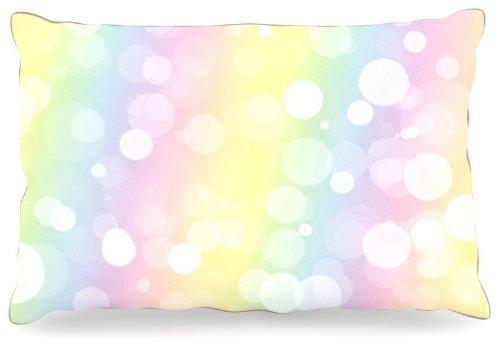 Kess InHouse KESS Original ''Pastel Prism'' Rainbow Bokeh Dog Bed, 30 by 40-Inch by Kess InHouse