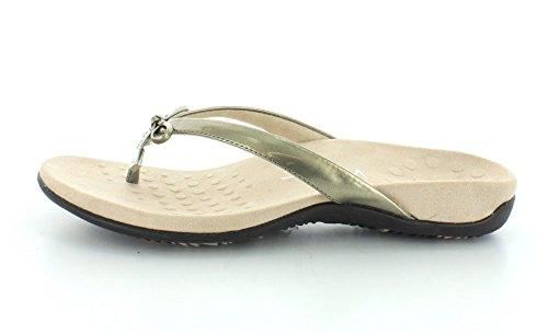 Vionic Womens Bella Ii Toepost Sandalo In Peltro