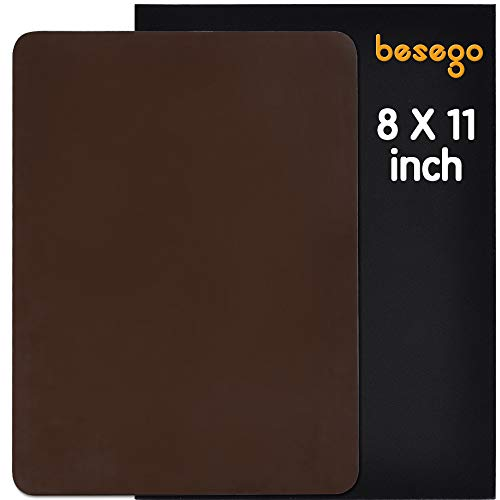 (Besego Leather Repair Patch, Leather Adhesive Patch for Sofas, Drivers Seat, Couch, Handbags, Jackets - 8 × 11inch(Medium)