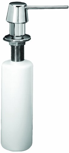Westbrass Heavy Duty Kitchen Sink Soap/Lotion Dispenser, Polished Chrome, D2171-26 ()