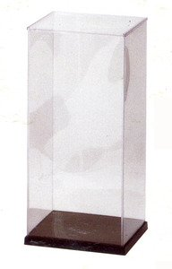 "JapanBargain New Japanese Plastic Doll Display Case, 8"" H x 8"" W x 17.25"" L"
