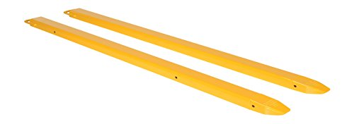 "Vestil FE-4-96 Steel Fork Extensions, Accommodates 4"" Fork Width, 96"" Length, 2"" Thickness"