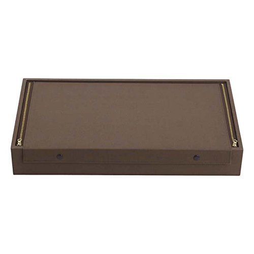 Manchester Brown Canvas Zipper Silverware Chest by Reed & Barton