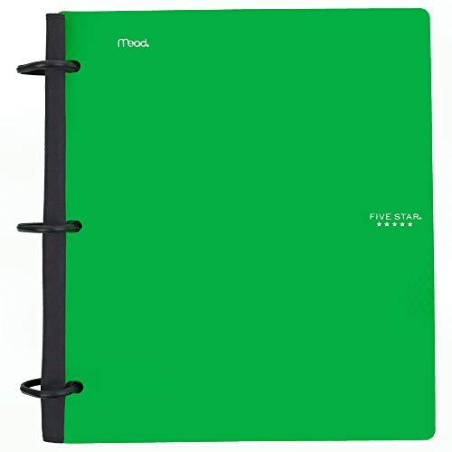 Five Star Flex Hybrid Notebinder, 1-1/2 Inch Binder, Notebook and Binder All-in-One, Green (72401)