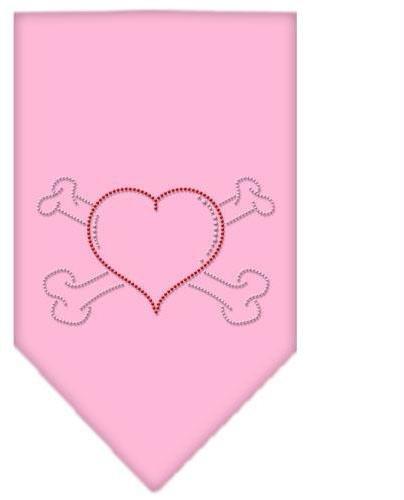 Heart Crossbone Rhinestone Bandana Light Pink Small Case Pack 24 Heart Crossb... by DSD