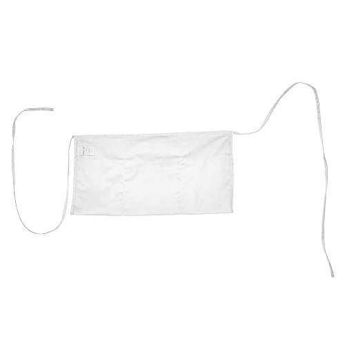 Waist Aprons Commercial Restaurant Home Bib Spun Poly Cotton Kitchen (3 Pockets) in White 100 Pack by DALIX (Image #4)