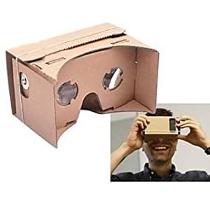 "Moppi Visualización 3D realidad virtual Google cartulina mediana amarillo (5 ""/ menos de 5"" pantalla móvil)"