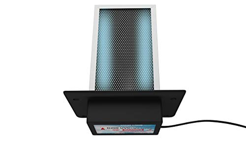 D200 Dual lamp Air Purifier Whole House TIO2 PCO photocatalytic + Activated Carbon Filter Uv Light in Duct for HVAC Ac (Air Conditioning) Duct Germicidal Remove Odors