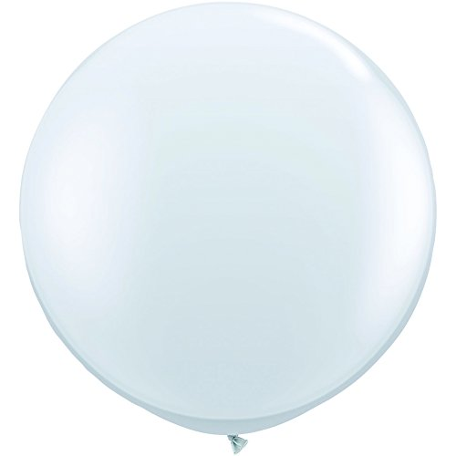 36 Inch Diamond Clear Jumbo Latex Balloons Pkg/2