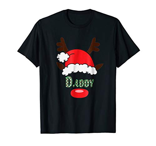 (Mens Matching Family Santa Hat with Reindeer Antlers -)